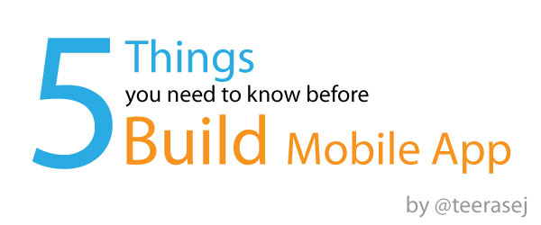 The topic of my session - 5 things you need to know before build mobile app