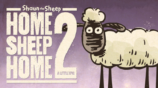 Shaun the sheep in Home Sheep Home 2 for iOS and Android with Adobe AIR