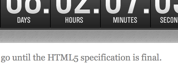 HTML5 is counting down to be completed
